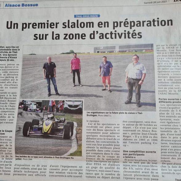La Team Kimmel organise un Slalom sur son nouveau site à Thal-Drulingen